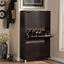 shoe cabinet dark brown wood shoe storage closet storage