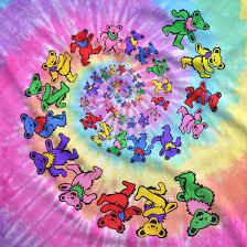 grateful dead spiral bears tie dye t shirt tee liquid blue