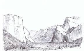 crosshatching landscape step by step yosemite valley john muir laws