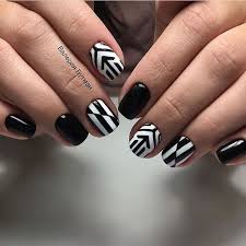 117 best black and white nails images on pinterest white nails