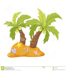 two coconut trees vector stock vector image 44636224