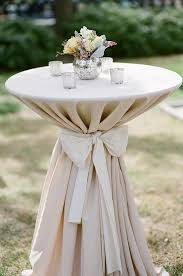 cocktail table concept linen would be dove gray white satin bow