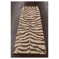 Taupe Zebra Rug Nuloom 100 Wool Radiant Zebra Area Rug Target
