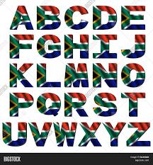 south africa flag alphabet image u0026 photo bigstock