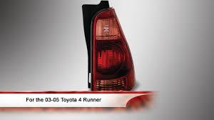 2003 toyota 4runner tail light 03 05 toyota 4 runner oem style tail light youtube