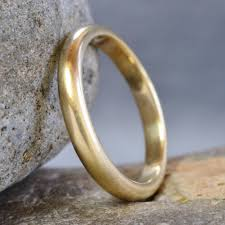 satin finish ring handmade gold satin finish wedding ring by muriel
