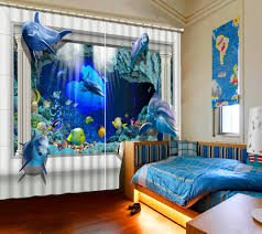 online get cheap blue patterned curtains aliexpress com alibaba