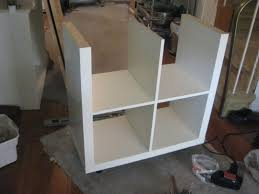 top picture of alluring white kitchen cart with butcher block