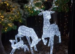 outdoor decorations lights large outdoor reindeer fia