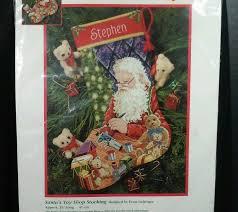 dimensions christmas needlepoint stocking santa u0027s toy shop craft