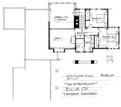 the bitteroot timber frame home floor plan blue ox timber frames