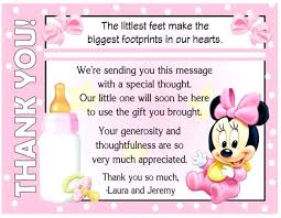 gift card baby shower wording invitation wording gift card baby shower mouse thank you cards with