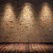 5x7ft light color bricks wall vintage wooden floor wedding custom