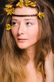 headband across forehead flower child hairstyle with braid