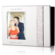 photo albums personalized personalized 4x6 glitter silver photo album