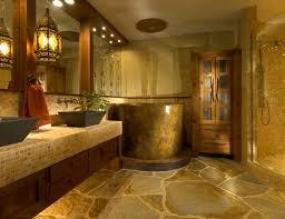bathroom elegant remodel ideas natural stone floor wooden bathroom elegant remodel ideas natural stone floor wooden varnished vanity mosaic glass tiled
