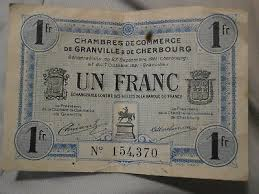chambre de commerce granville calais 1914 billet de nécessité 1 fr chambre de commerce de calais
