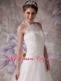 princess halter top chapel train tulle beading wedding gown