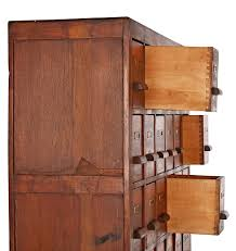 massive oak 36 drawer apothecary cabinet rejuvenation