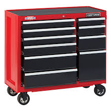 stanley 10 drawer rolling tool cabinet tool cabinet 10 drawers 41 x 18 x 37 5 red and black rona