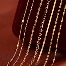 best gold chain necklace images Best gold chain necklace for pendant women men jewelry brand diy jpg