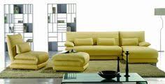 sofa maãÿe canary yellow leather sofa furnitureanddesignideas a sofa