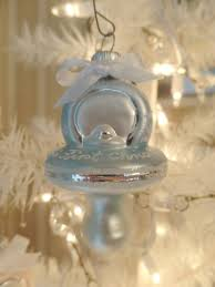 christmas ornaments baby blue pacifier babys christmas glass ornament baby boy gift