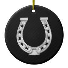 horseshoe ornaments lucky horseshoe ornaments keepsake ornaments zazzle