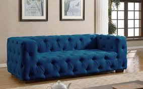 Modern Blue Sofa Luxurious Modern Large Tufted Linen Fabric Sofa Walmart