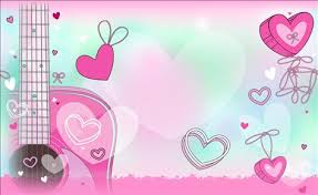 wallpaper pink guitar guitar and hearts free wallpaper for facebook twitter and other