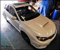 subaru wrapped subaru wrx hatchback matte black roof vinyl car wrap u2014 wannabe