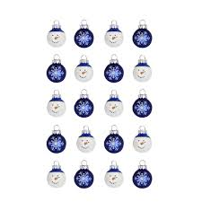 home accents 1 in snowman glass ornament 20
