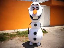 Olaf Costume 2014 New Hottest Deluxe Smiling Frozen Snowman Olaf Mascot Costume