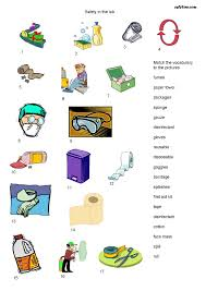 safety equipment vocabulary worksheet eslflow