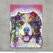 australian shepherd keychain australian shepherd dog dean russo metal sign pet signs
