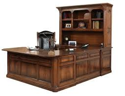 U Shape Desk Jefferson U Shaped Desk With Optional Hutch Top From Dutchcrafters