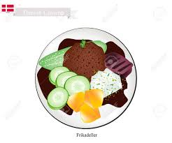 cuisine danemark cuisine danoise illustration de frikadeller ou pâté de boeuf haché