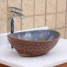 elite 1553 oval brown cloud glaze porcelain ceramic bathroom