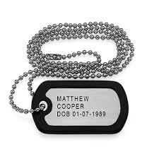 Engravable Dog Tags Engraved Dog Tag Necklace Mynamenecklace Au