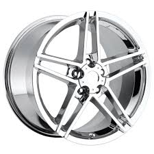 chrome corvette wheels c6 corvette 2005 2013 z06 style wheels set chrome no rivets 18x9 5