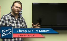 Tv Wall Mount Ideas by Diy Flat Screen Tv Wall Mount Cheap Youtube