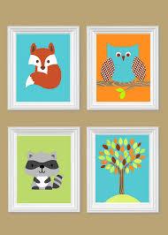 Raccoon Nursery Decor Woodland Nursery Decor Raccoon Nursery Fox Nursery Decor