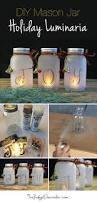 How To Make A Chandelier With Christmas Lights Diy Mason Jar Holiday Luminaria Holidays Craft And Christmas Decor
