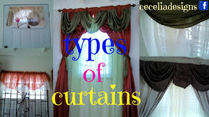 types of curtains youtube