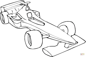 formula one car coloring page free printable coloring pages