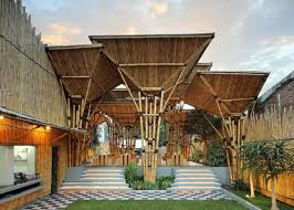indonesian bamboo restaurant is a striking open air design