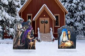 nativity outdoor christmas nativity outdoor set illustrated by dona gelsinger