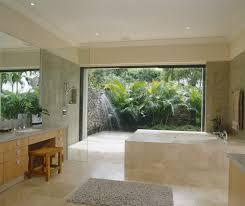 bathroom elegant floral wall mural for classic tropical bathroom