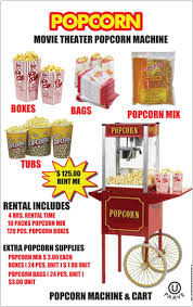 popcorn rental machine carnival food party rentals track