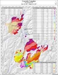 Idaho Fires Map Cascade Complex Wildfire Behavior Case Study U2013 Print Version